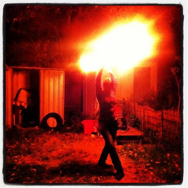 fans ablaze