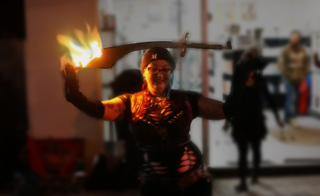 bellydance and fire performer