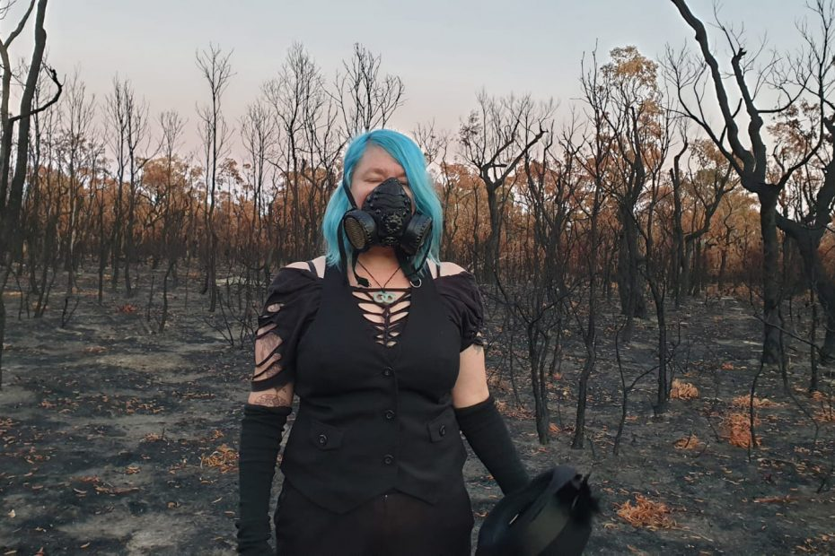 still from smoke gets in your eyes - standing in bushfrie ravished land