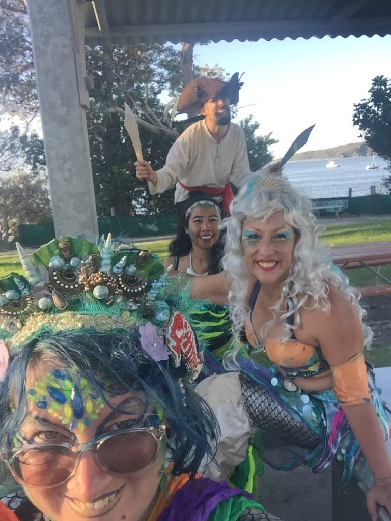 mermaid and pirate  troupe