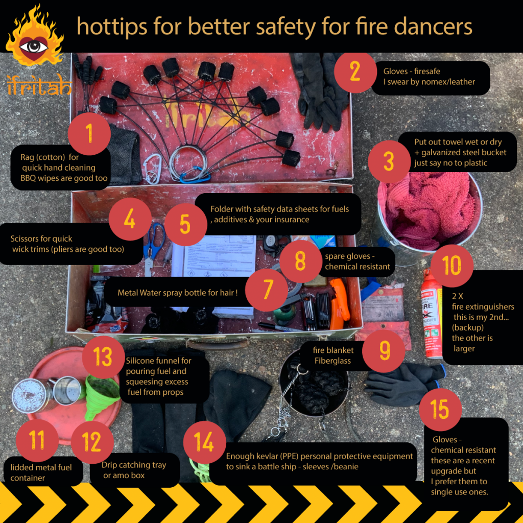 saftey  equipment for fire dancers
